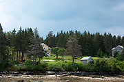 Saltwater farm near the town of Isle au Haut, Maine.