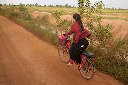 Student Riding On Bicycle