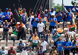 India fans in the stands show their support during day six of the ICC World Test Championship Final match at The Ageas Bowl, Southampton. Picture date: Wednesday June 23, 2021.