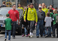 28.04.2011, Trainingsgelaende Werder Bremen, Bremen, GER, 1.FBL, Training Werder Bremen, im Bild Tim Wiese (Bremen #1, vorn), Petri Pasanen (Bremen #3, hinten)   EXPA Pictures © 2011, PhotoCredit: EXPA/ nph/  Frisch       ****** out of GER / SWE / CRO  / BEL ******