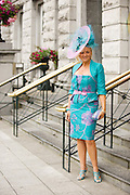 Jacqueline Honer- Sullivan from Dunleer Co. Louth at Hotel Meyrick in Eyre Sq. Galway for their best dressed Lady Competition during Galway's Race week . Photo:Andrew Downes.