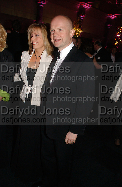 William and Ffion Hague. The Black and White Winter Ball. Old Billingsgate. London. 8 February 2006. -DO NOT ARCHIVE-© Copyright Photograph by Dafydd Jones 66 Stockwell Park Rd. London SW9 0DA Tel 020 7733 0108 www.dafjones.com