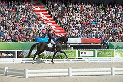 Kristina Sprehe, (GER), Desperados FRH - Freestyle Grand Prix Dressage - Alltech FEI World Equestrian Games™ 2014 - Normandy, France.<br /> © Hippo Foto Team - Jon Stroud<br /> 25/06/14