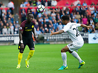 Football - 2016 /2017 Premier League - Swansea City vs Manchester City<br /> <br /> Bacary Sagnaof Manchester City attacks…. at the Liberty Stadium.<br /> <br /> <br /> PIC COLORSPORT/WINSTON BYNORTH