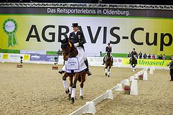 SCHMIDT Hubertus (GER), Escolar<br /> Oldenburg - AGRAVIS Cup 2019<br /> Siegerehrung<br /> Preis der Liselott und Klaus Rheinberger Stiftung<br /> Grand Prix de Dressage<br /> CDI4* - Int. Dressurprüfung <br /> 01. November 2019<br /> © www.sportfotos-lafrentz.de/Karl-Heinz Frieler