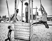 Ghent, Belgium, 20 may, 2012, Children playing at Dok Gent,