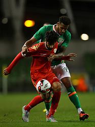 Ireland's Cyrus Christie in action against Oman's Omar Mohammed Rashid Al Malki - Mandatory by-line: Ken Sutton/JMP - 31/08/2016 - FOOTBALL - Aviva Stadium - Dublin,  - Republic of Ireland v Oman -