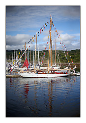 Day five of the Fife Regatta, lay day in Portavadie<br /> <br /> The boats dressed overall for Kentra and Astor in Portavadie Marina<br /> <br /> * The William Fife designed Yachts return to the birthplace of these historic yachts, the Scotland's pre-eminent yacht designer and builder for the 4th Fife Regatta on the Clyde 28th June–5th July 2013<br /> <br /> More information is available on the website: www.fiferegatta.com
