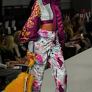 showcases it lastest collection at the Graduate Fashion Week 2018, 4 June 4 2018 at Truman Brewery, London, UK.