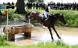 Graf Liberty ridden by Christopher Burton on the Cross Country during day four of the 2019 Mitsubishi Motors Badminton Horse Trials at The Badminton Estate, Gloucestershire. PRESS ASSOCIATION Photo. Picture date: Saturday May 4, 2019. See PA story EQUESTRIAN Badminton. Photo credit should read: David Davies/PA Wire