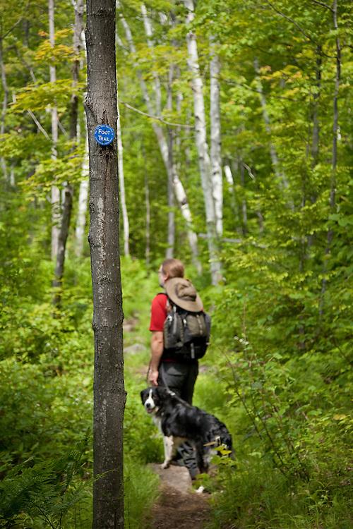 Man & Dog on trail