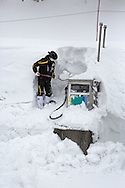 Digging out the gas tank at Happo One Ski Resort