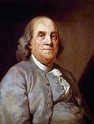 Benjamin Franklin (1706-90) American statesman, printer and scientist. Anonymous portrait.