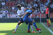 Xavier Amaechi of England (11) during the UEFA European Under 17 Championship 2018 match between England and Italy at the Banks's Stadium, Walsall, England on 7 May 2018. Picture by Mick Haynes.