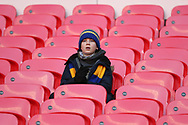 Young AFC Wimbledon fan during the The FA Cup 3rd round match between Tottenham Hotspur and AFC Wimbledon at Wembley Stadium, London, England on 7 January 2018. Photo by Matthew Redman.