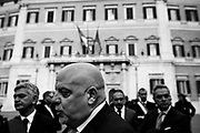 Mayor of Termoli Maurizio Brucchi during the demonstration promoted by the provinces of Abruzzo to demand the amendment of the Decree on the earthquake. Rome 2 March 2017. Christian Mantuano / OneShot
