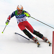 Winter Olympics, Vancouver, 2010.David Ryding, Great Britain, in action during the Alpine Skiing, Men's Slalom at Whistler Creekside, Whistler, during the Vancouver Winter Olympics. 27th February 2010. Photo Tim Clayton