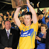 15 September 2012; Clare captain Conor McGrath lifts the cup after victory over Kilkenny. Bord Gáis Energy GAA Hurling Under 21 All-Ireland 'A' Championship Final, Clare v Kilkenny, Semple Stadium, Thurles, Co. Tipperary. Picture credit: Diarmuid Greene / SPORTSFILE