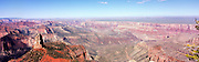 A panoramic view of Marble Canyon and the Grand Canyon from Point Imperial, North Rim, Arizona, USA