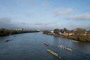 Chiswick. London. Saturday. 23.01.2016. General view from chiswick Bridge of the Quintin Head. River Thames.   [Mandatory Credit: Peter Spurrier/Intersport-images.com]