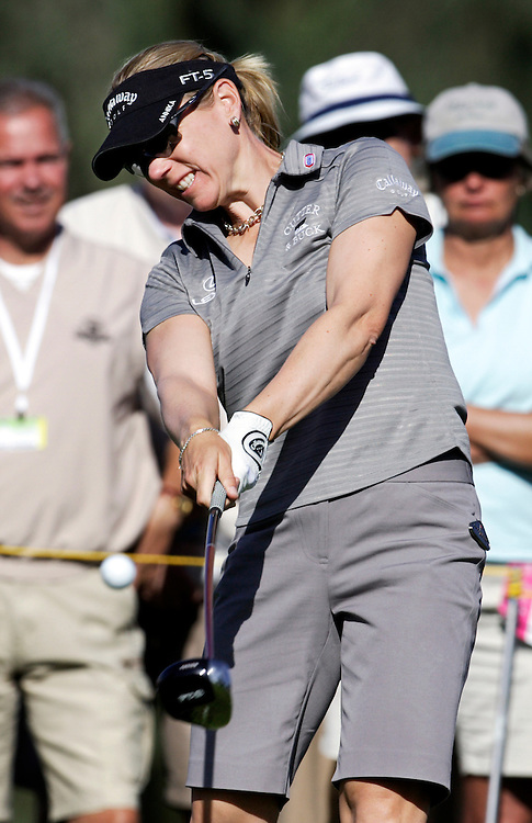 Annika Sorenstam during the Kraft Nabisco Championship, the first major of the year on the LPGA tour.