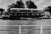"""Henley On Thames. Oxfordshire/ Berkshire. United Kingdom. 26/17.05.2017. General View, across River Thames, towards """"Phyliss Court Club"""" <br /> <br /> <br /> [Mandatory Credit Peter SPURRIER/Intersport Images]"""