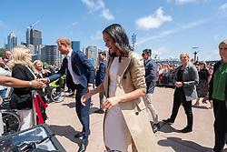 AU_1372468 - Sydney, AUSTRALIA  -   Closeup shoots of Prince Harry and Meghan meeting Daphne Dunne at the Opera House<br /> <br /> Pictured: Prince Harry, Meghan Markle<br /> <br /> BACKGRID Australia 16 OCTOBER 2018 <br /> <br /> BYLINE MUST READ: Michelle Haywood / BACKGRID<br /> <br /> Phone: + 61 2 8719 0598<br /> Email:  photos@backgrid.com.au