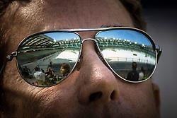 Stade d'Ornano seen trough the eyes of Robert Dover (USA)<br /> WEG Test event dressage - Caen 2014<br /> © Hippo Foto - Dirk Caremans