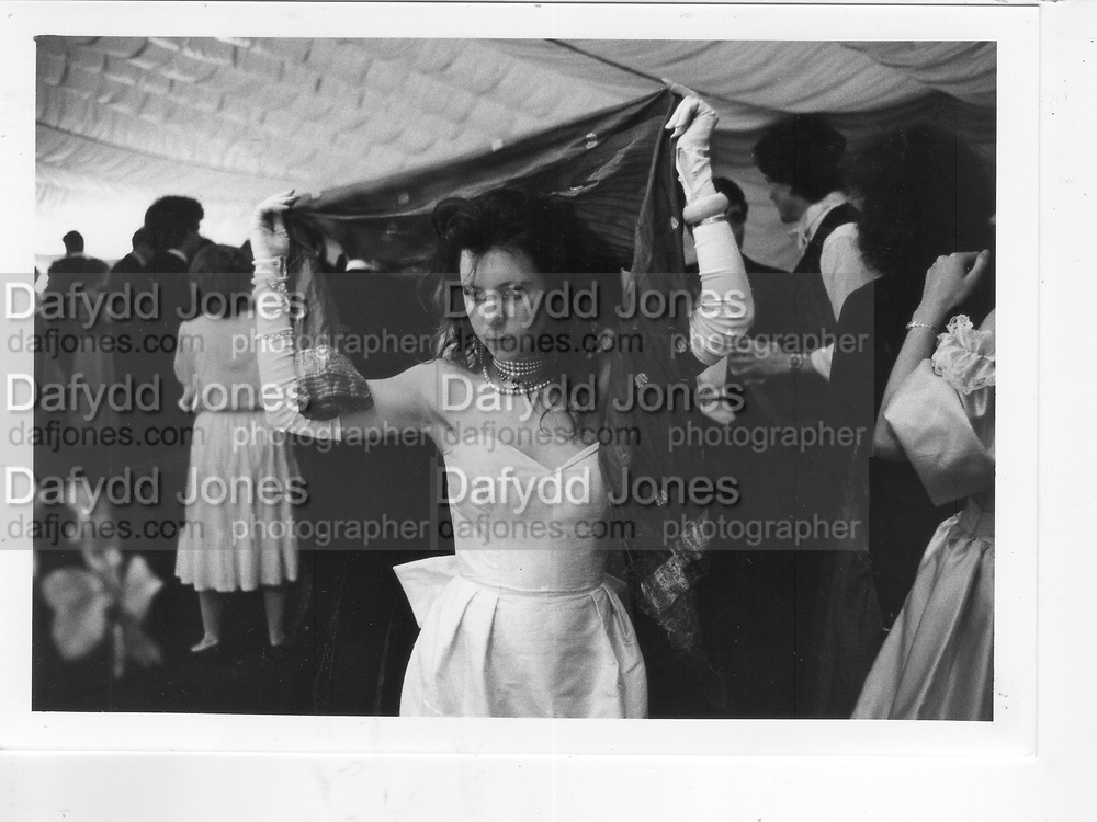 Girl at Magdalene Ball. Cambridge. 1983. *** Local Caption *** -DO NOT ARCHIVE-© Copyright Photograph by Dafydd Jones 66 Stockwell Park Rd. London SW9 0DA Tel 020 7733 0108 www.dafjones.com