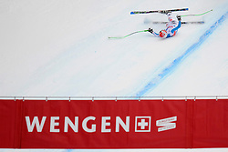 19.01.2013, Lauberhornabfahrt, Wengen, SUI, FIS Weltcup Ski Alpin, Abfahrt, Herren, im Bild Josef Ferstel (GER) stuerzt im Zielhang // crashes during mens downhillrace of FIS Ski Alpine World Cup at the Lauberhorn downhill course, Wengen, Switzerland on 2013/01/19. EXPA Pictures © 2013, PhotoCredit: EXPA/ Freshfocus/ Urs Lindt..***** ATTENTION - for AUT, SLO, CRO, SRB, BIH only *****