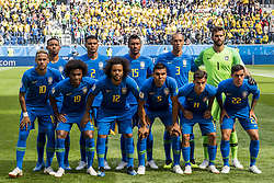 June 22, 2018 - Sankt Petersburg, Russia - 180622 Brazil's starting eleven ahead of the FIFA World Cup group stage match between Brazil and Costa Rica on June 22, 2018 in Sankt Petersburg..Photo: Petter Arvidson / BILDBYRÃ…N / kod PA / 92075 (Credit Image: © Petter Arvidson/Bildbyran via ZUMA Press)