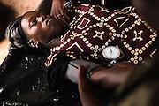 Nurse Maba N'Djim checks the blood pressure of Awa Diarra, 26, 3 mo. pregnant, during a prenatal consultation in the village of Banankoro, Mali on Saturday August 28, 2010..