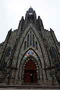 Canela_RS, Brasil...Igreja Matriz de Nossa Senhora de Lourdes ou Catedral de Pedra em Canela, Rio Grande do Sul...The Mother Church Nossa Senhora de Lourdes  or Rock Cathedral in Canela, Rio Grande do Sul...Foto: MARCUS DESIMONI / NITRO