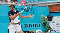 Tennis - 2019 Queen's Club Fever-Tree Championships - Day Six, Saturday<br /> <br /> Men's Singles, Semi Final: Daniil Medvedev (RUS) Vs. Gilles Simon (FRA) <br /> <br /> Daniil Medvedev (RUS) fires back a forehand drive on Centre Court.<br />  <br /> COLORSPORT/DANIEL BEARHAM