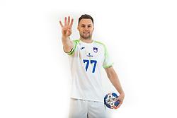 Luka Zvizej, handball player of Slovenia posing for commercial of Rokometna simfonija 2019, on April 14, 2019, in Zrece, Slovenia. Photo by Vid Ponikvar / Sportida