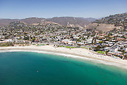 Aerial Stock Photo of Laguna Beach and Main Beach