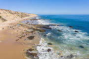 Scenic View of California Coast Looking South