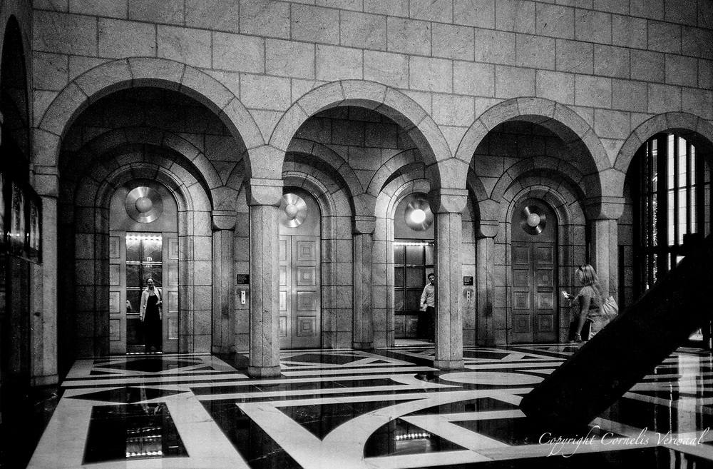 Lobby of Sony Building (formerly AT&T), designed by Philip Johnson; <br /> New York, 2007.