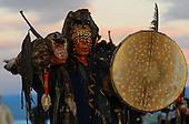 Shamans' ceremony.  Tuva, Russia