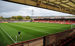 General views inside the stadium - Mandatory by-line: Nizaam Jones/JMP - 20/10/2020 - FOOTBALL - Jonny-Rocks Stadium - Cheltenham, England - Cheltenham Town v Scunthorpe United - Sky Bet League Two