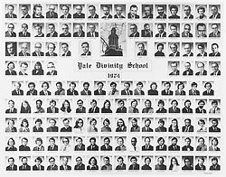 1974 Yale Divinity School Senior Portrait Class Group Photograph