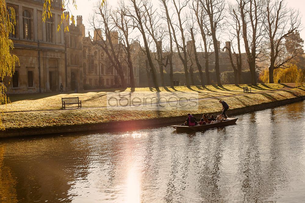Punting on River Cam, Cambridge, England, United Kingdom