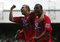 Photo: Lee Earle.<br /> Crystal Palace v Sheffield United. Coca Cola Championship. 22/09/2007. Tom Soares (R) celebrates with Carl Fletcher after he scored the second goal for Palace.