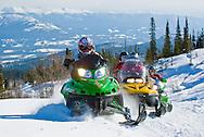 Sledding around Whitehorse, Yukon, Canada.