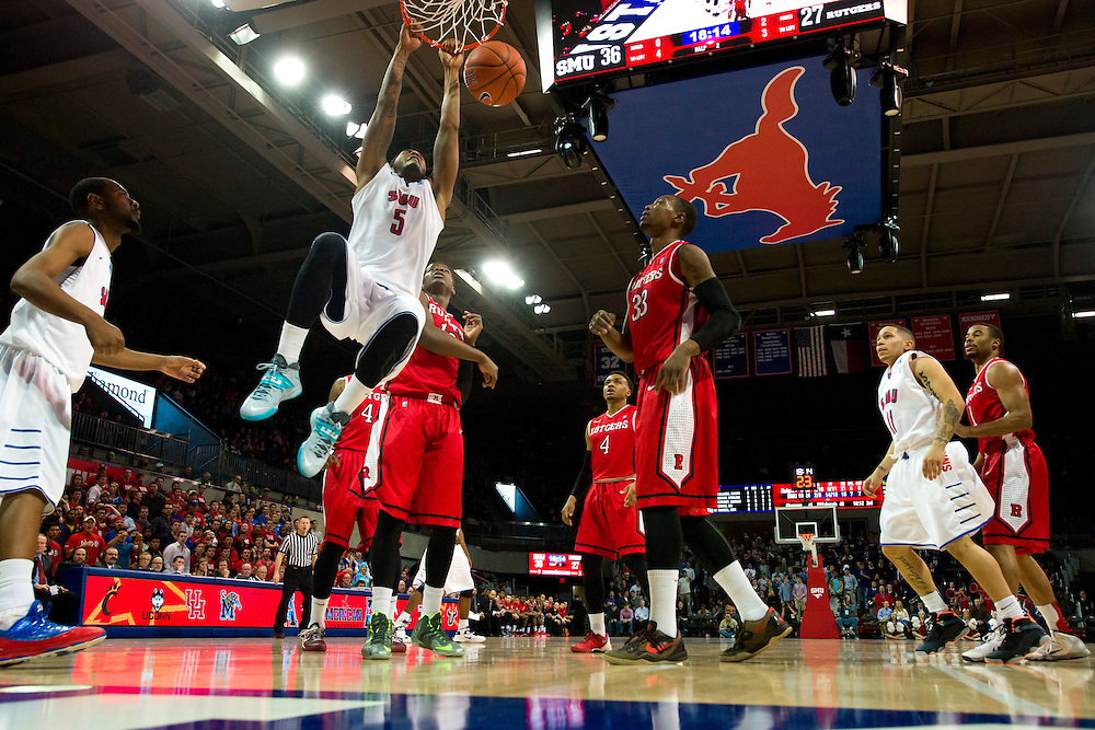 DALLAS, TX - JANUARY 21: Markus Kennedy #5 of the SMU Mustangs dunks the ball against the Rutgers Scarlet Knights on January 21, 2014 at Moody Coliseum in Dallas, Texas.  (Photo by Cooper Neill/Getty Images) *** Local Caption *** Markus Kennedy