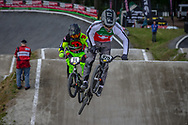 #925 (TANNIGER Romain) SUI during round 4 of the 2017 UCI BMX  Supercross World Cup in Zolder, Belgium.