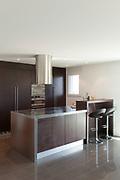 Architecture, beautiful apartment furnished, modern kitchen
