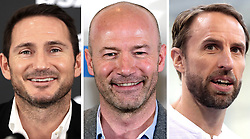 Undated file photos of (left to right) Frank Lampard, Alan Shearer and Gareth Southgate.