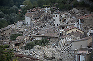 Pescara del Tronto one of the towns most affected by the earthqueak that on the 24 August has hit the central Italian region.