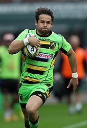 Northampton Saints Cobus Reinach during the Aviva Premiership match at the Kingsholm Stadium, Gloucester